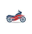 american motorcycle usa logo vector image