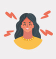 angry girl face vector image vector image