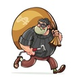 Bandit with jimmy carry sack vector image vector image