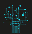 blockchain cryptocurrency template vector image vector image