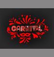 brazilian traditional carnival logo abstract vector image