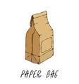 brown paper bag package collection eps10 vector image