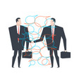 business deal businessmen agreement bubble for vector image
