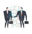 business deal businessmen agreement bubble vector image vector image