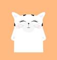 cartoon cat drawing cute funny beast vector image vector image
