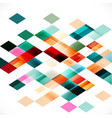 colorful transparency and overlapping square vector image vector image