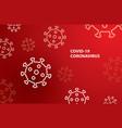 covid19-19 coronavirus with symbol danger sign vector image vector image