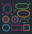 cute colorful retro and floral empty emblems set vector image vector image