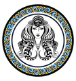 Decorative Zodiac sign Virgo vector image