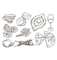 drawing georgian food vintage collection vector image vector image