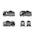dump truck in different perspective vector image vector image