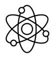 dynamic atom molecule science symbol icon vector image vector image