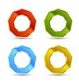 enneagon shapes set vector image vector image