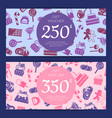 flat style sweets icons voucher vector image vector image