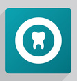 flat tooth icon vector image vector image