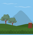 forest landscape cartoon vector image