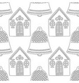 gingerbread bells black and white vector image vector image