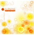 glowing orange abstract background vector image vector image