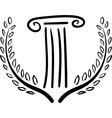 greek art vector image