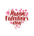 happy valentine s day greeting card or banner vector image vector image