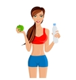 Healthy lifestyle fitness girl vector image vector image