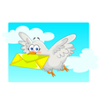 homing pigeon vector image vector image