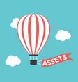 hot air balloon assets vector image