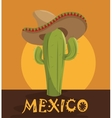 icon cactus hat mexican design vector image vector image