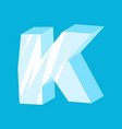 letter k ice font icicles alphabet freeze vector image