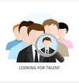 Looking for Talent Icon Flat Design vector image