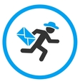 Man Mail Courier Rounded Icon vector image vector image