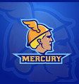 mercury abstract team logo emblem or sign vector image vector image