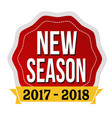 new season 2017-2018 label or sticker vector image