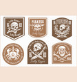 pirates design elements - set on light vector image vector image