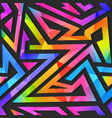 rainbow geometric seamless pattern vector image vector image
