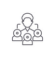 referral marketing line icon concept referral vector image vector image