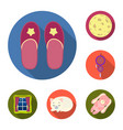 rest and sleep flat icons in set collection for vector image vector image