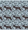 seamless pattern with elk vector image vector image
