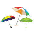 Set of umbrellas vector image vector image