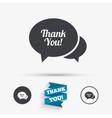 Speech bubble thank you icon Customer service vector image vector image