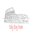 stay home poster for italy vector image vector image