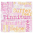 Stop Tinnitus Symptoms Reclaim Silence text vector image vector image