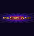 straight flush online poker casino vector image vector image