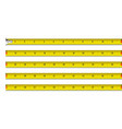 tape measure in inches vector image