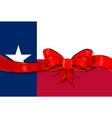 texas flag ribbon vector image vector image