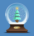 transparent glass sphere with a christmas tree vector image