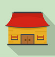 vietnam house icon flat style vector image vector image