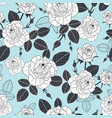 vintage pastel blue black and white roses vector image vector image