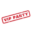 Vip Party Rubber Stamp vector image vector image