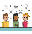 young business teamwork vector image